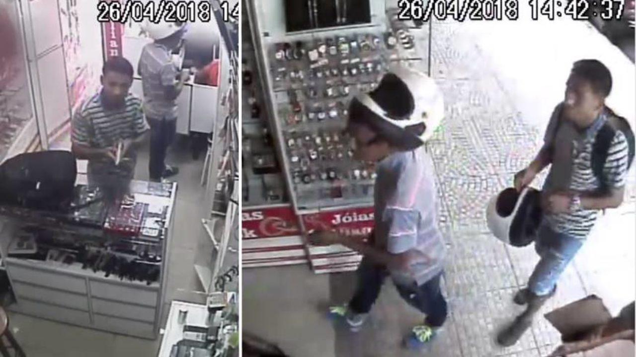 a593e55a7734 Vídeo mostra momento em que loja é assaltada pela 4ª vez no Centro de  Simões Filho - Simões Filho Online