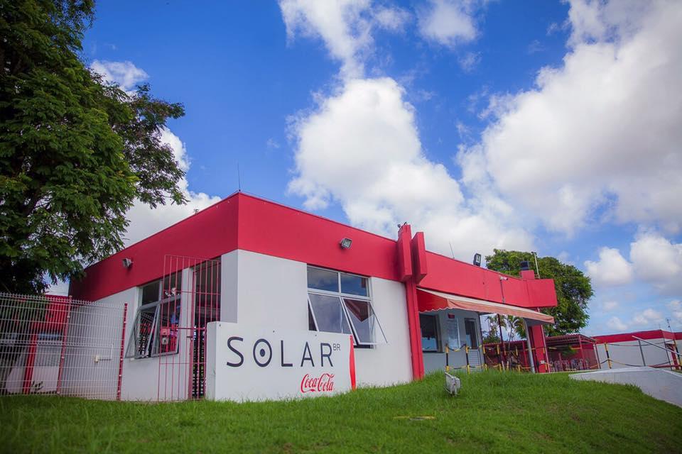 solar coca cola