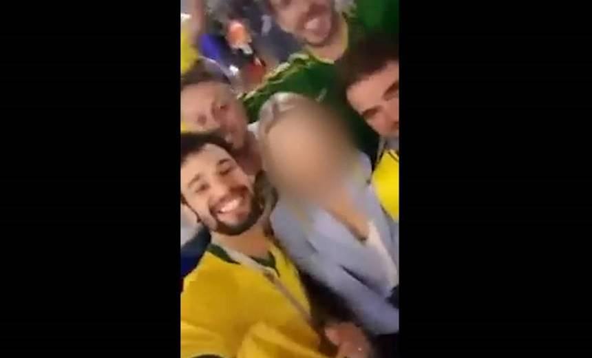 Torcedor brasileiro que insultou mulher russa já foi preso pela Polícia Federal