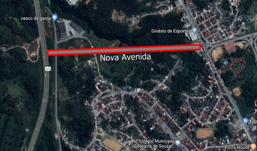 nova avenida em Simões Filho