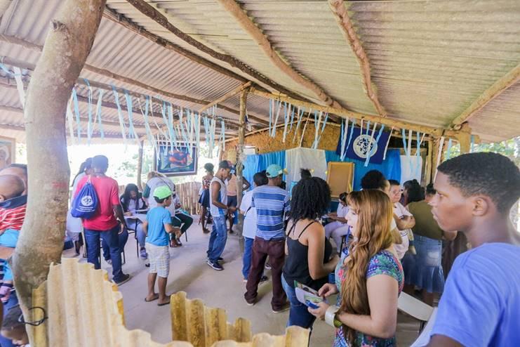 Quilombo Rio dos Macacos recebe ação social e de saúde