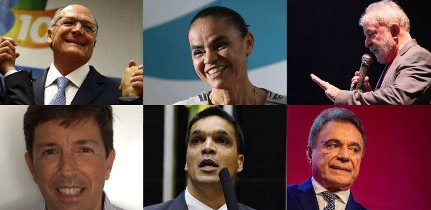 Seis partidos oficializam candidatos à Presidência neste sábado