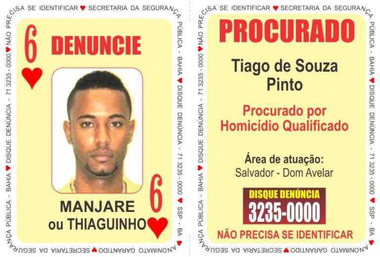 """Sete criminosos são inseridos no """"Baralho do Crime da SSP""""; veja nova lista 7"""