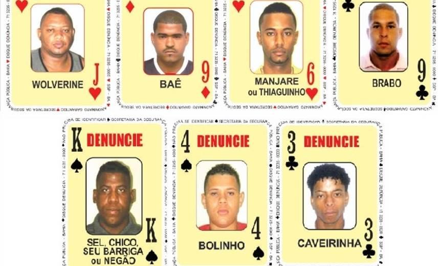 """Sete criminosos são inseridos no """"Baralho do Crime da SSP""""; veja nova lista 1"""