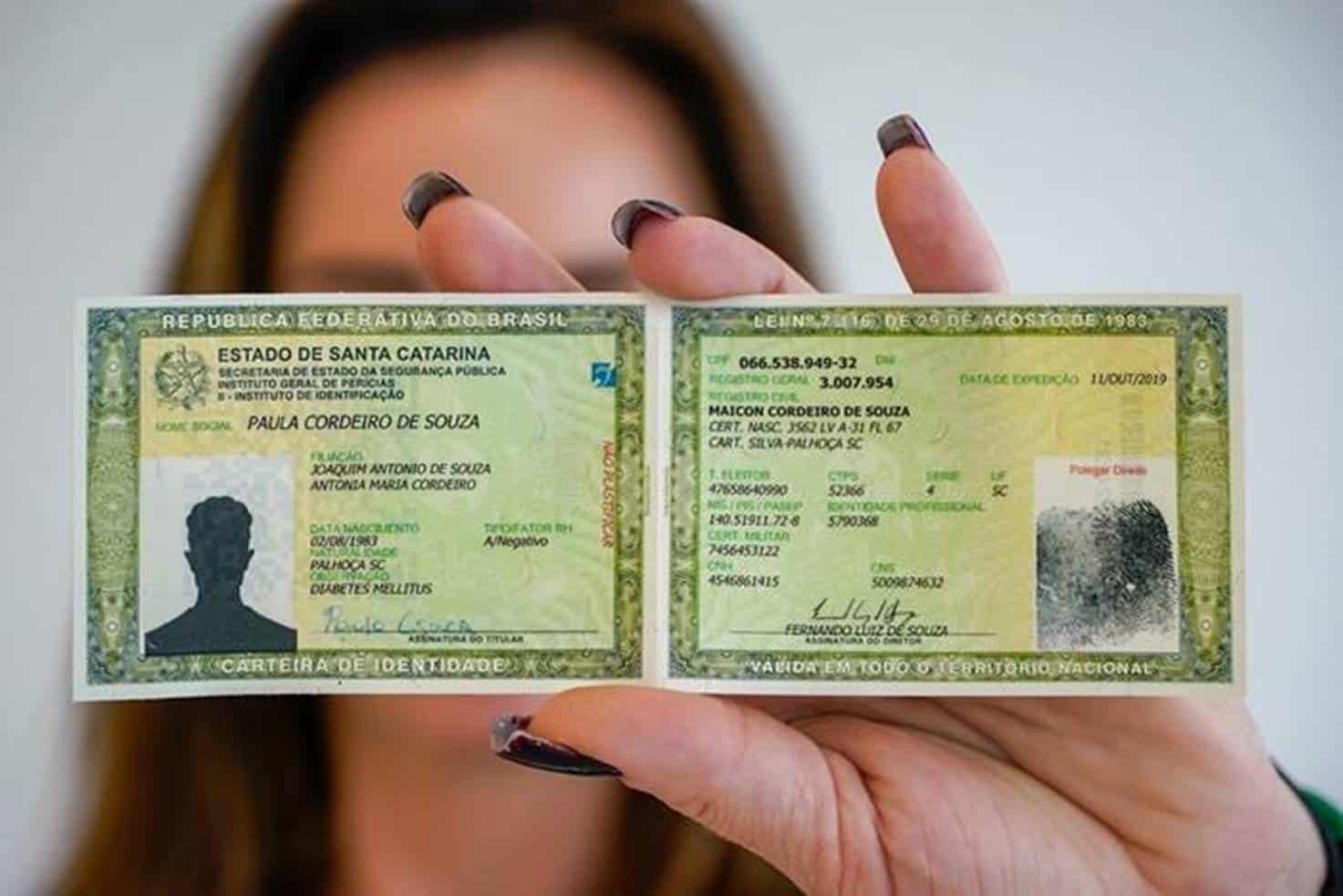 Novo RG 2019 2020 terá 13 tipos de documentos