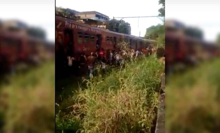 Trens se chocam no Subúrbio de Salvador; veja vídeo