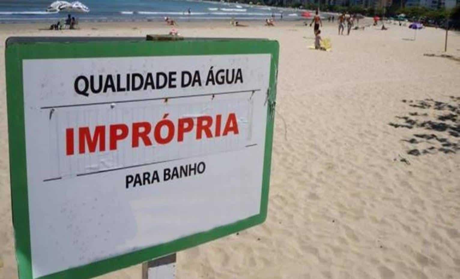 Resultado de imagem para praias impróprias para banho