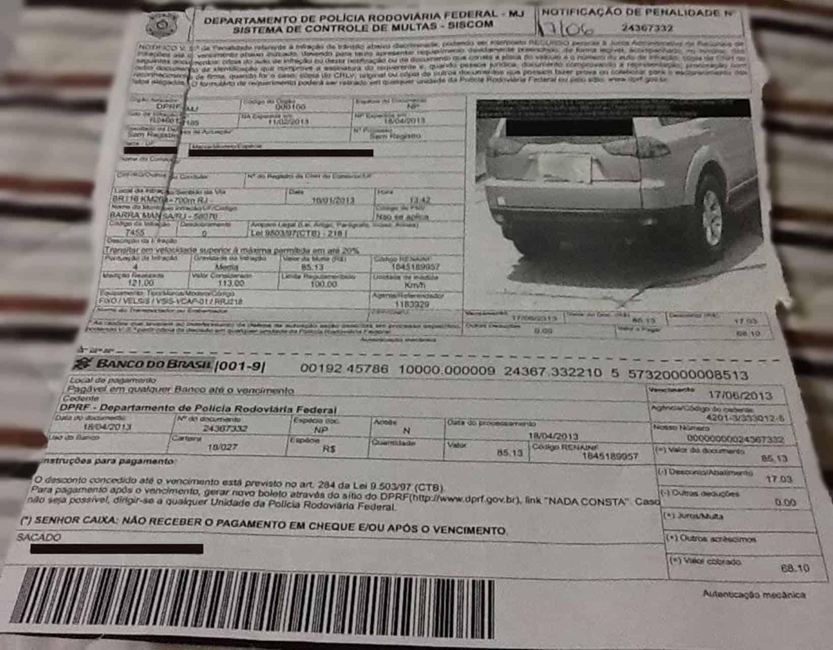 Detran alerta para o novo golpe de multa de trânsito