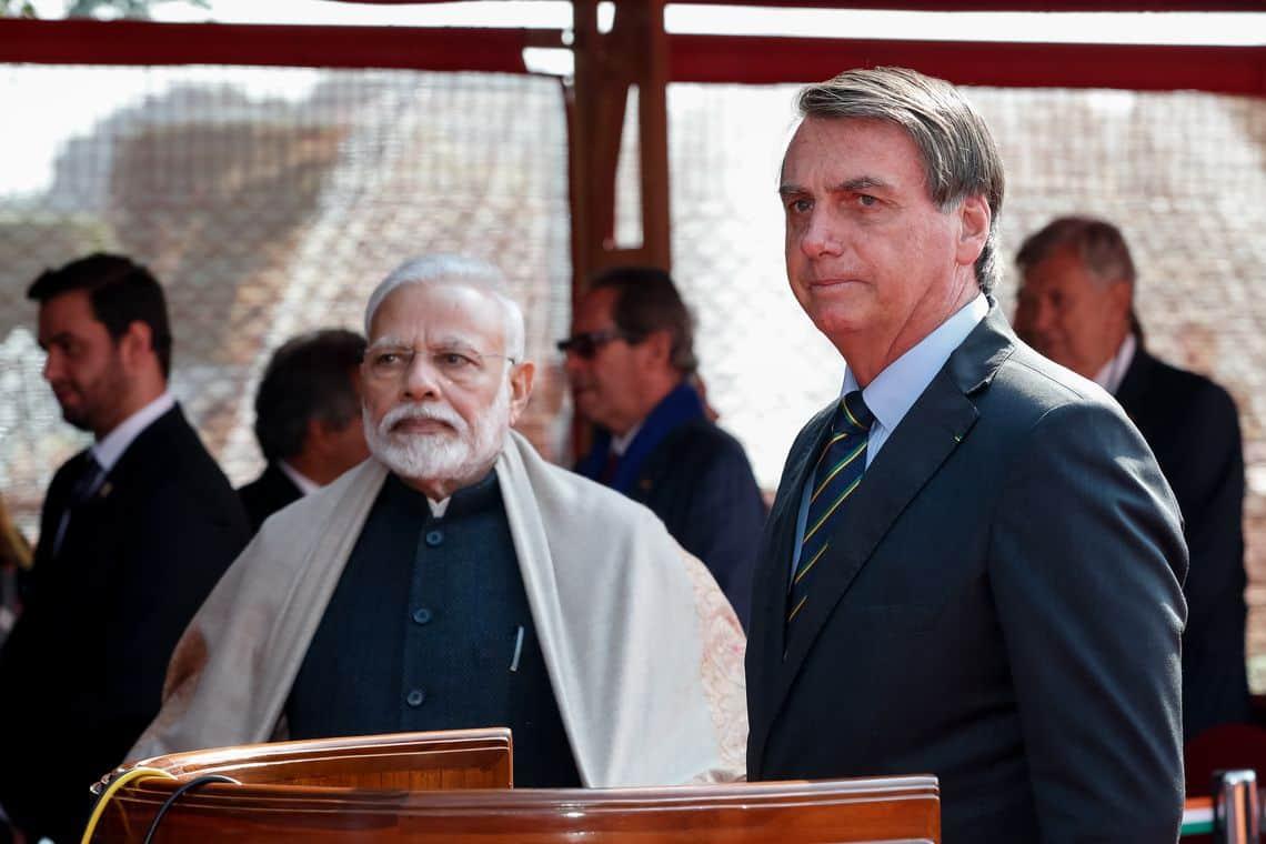 Veja os 15 acordos que Bolsonaro fechou com a Índia