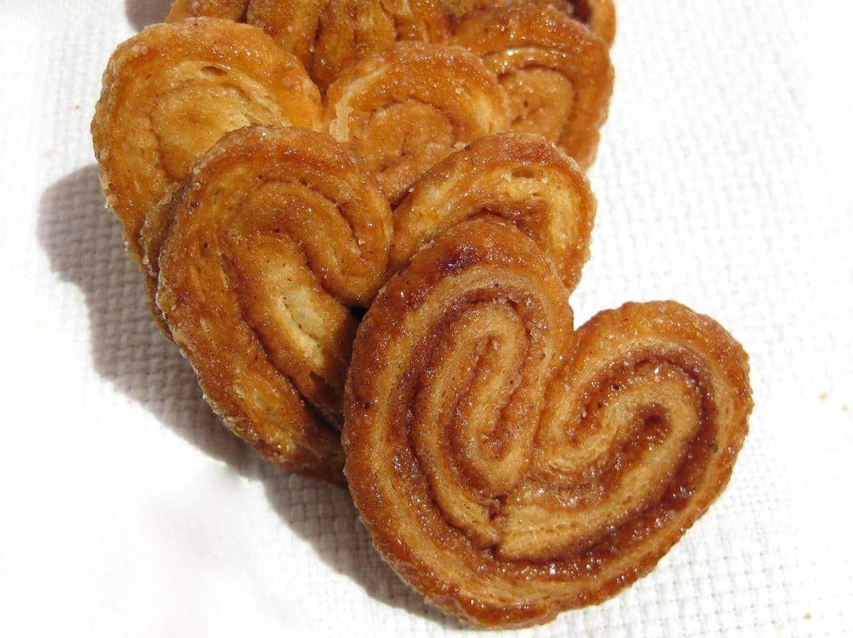 Nove receitas fáceis de biscoito Palmier de lamber os dedos