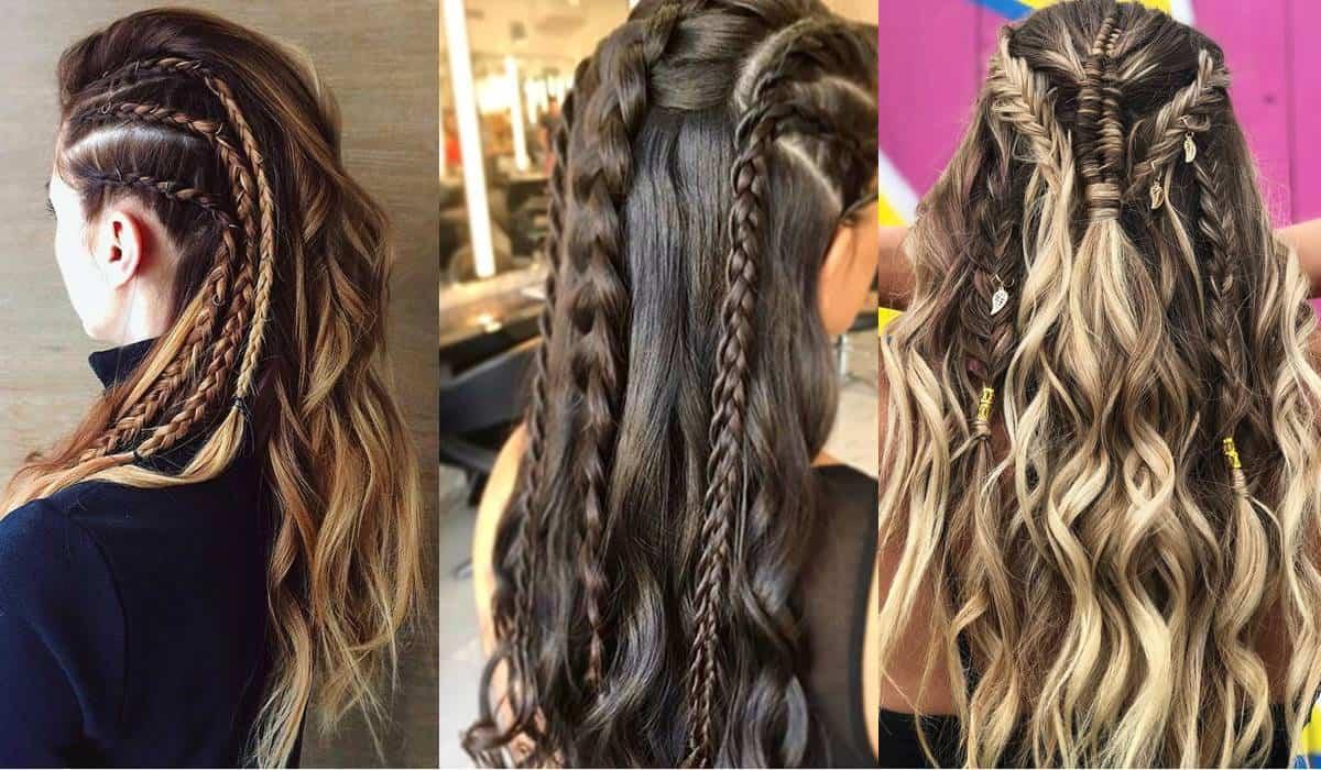 Vários tutoriais de tranças Vikings para você fazer no seu cabelo