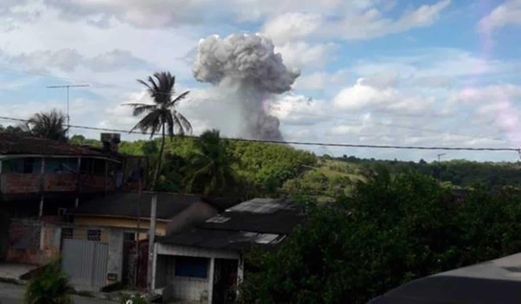 Fábrica de fogos explode em Simões Filho: barulho e faz moradores acreditarem em queda de avião