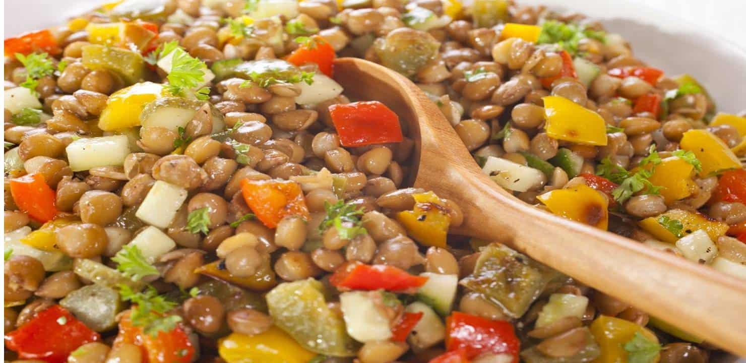 Salada de lentilhas para atrair prosperidade