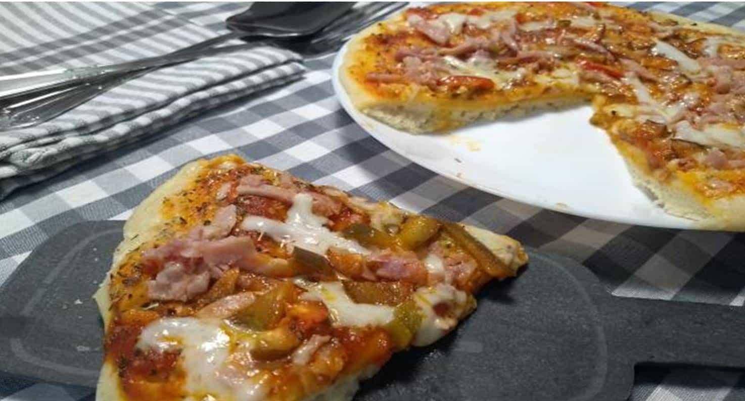 Pizza Feita no Microondas