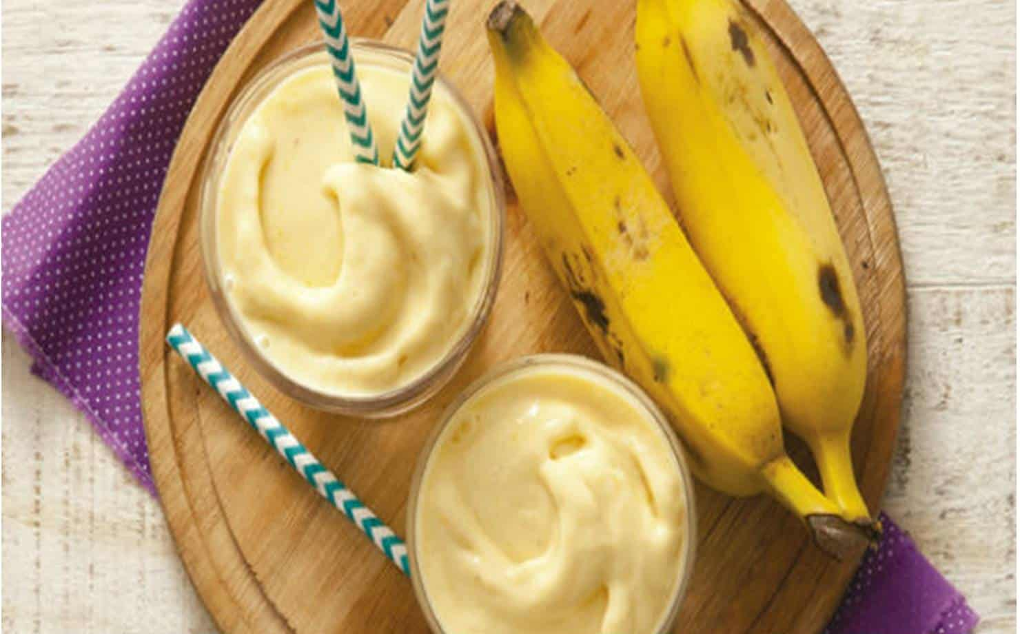 2 receitas de Smoothie de banana para ajudar reduzir a ansiedade